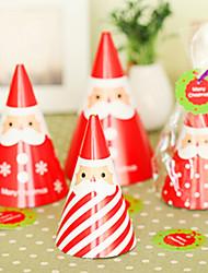bricolaje pie tarjeta de Navidad de santa (4pcs)