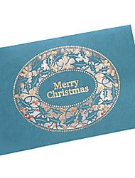 arte tarjetas de Navidad de papel de corte por láser