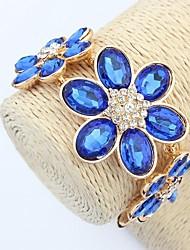 Women's Clearance Fancy Flowers Cluster Strand Bracelets