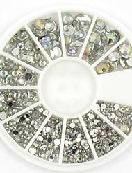 gemengde formaten wit kristal nail art strass acryl ab sieraden schijnt manicure ontwerp
