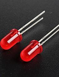 5mm rouge diode électroluminescente lampes led (50 pièces par paquet)