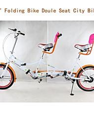 Vélos Confort Cyclisme Others 20 pouces Unisexe Frein à Double Disque Fourche à Suspension Mono poutre Ordinaire Acier Orange