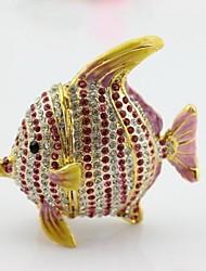 Full Diamond Fish Jewery Trinket Gift Box