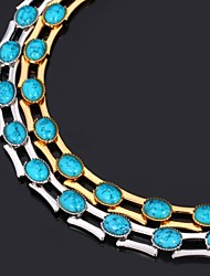 Necklace Choker Necklaces / Chain Necklaces / Vintage Necklaces Jewelry Wedding / Party / Daily / Casual FashionPlatinum Plated / Gold