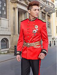Black&Red Slim Fit Tuxedo In Polyester