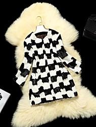 patrones a cuadros de piel de visón abrigos de pieles de las mujeres que cosen chaqueta corta de piel de visón