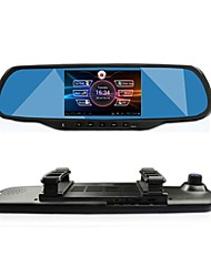 "GT VIEW 5.0""Touch Android GPS Navigation Bluetooth WiFi 1080P Dual lens Rearview Mirror Dash Car DVR"