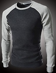 Men's O-Neck Thick Cashmere Fashion T-shirt Long Sleeve
