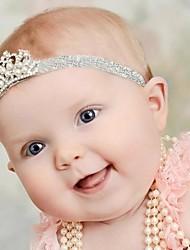 4pcs bebés faixa de cabelo coroa de strass crianças da menina cabeça elástica hairwear crianças acessórios para o cabelo