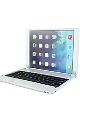 LS06Mair ABS Buttons and Adjustable Angle Holder Stand Bluetooth Keyboard for iPad Air