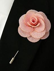 main polyester rose fleurs de revers boutonnière pour hommes