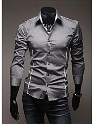 Badboy Men's Shirt Collar Casual Shirts , Cotton Blend Long Sleeve Casual Pocket Fall
