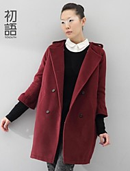 Toyouth ®2014 new winter Large code Institute wind self-cultivation loose wool coat