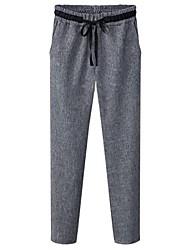 Women's Black/Gray Harem Pants , Casual