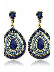 Brincos Compridos Cristal Imitação de Diamante Jóias da indicação Moda Jóias de Luxo EuropeuGema Cristal Imitação de Pérola Ágata Resina