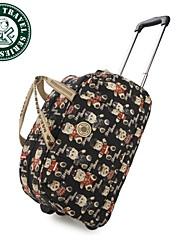 Daka Bear® vintage mujer bolsa de viaje bolsa de equipaje de mano-bolsa de lona caliente gimnasio maleta ocasional