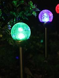 Conjunto de 2 Mudando a cor da bola de vidro Solar Lâmpada Jardim
