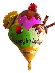 Happy Birthday Sweetie Big Ice Cream Metallic Balloon