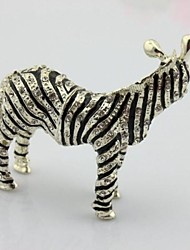 Alloy Metal Small Size Zebra Gift Box