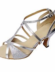 sandali da donna latino tacco a spillo scarpe da ballo paillette fibbia (più colori)