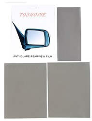 "TOSHOME Universal Anti-glare Film for Inside Outside Rearview Mirrors DIY Series(11""*4.72""*1pc, 9.84""*7.87""*2pcs)"