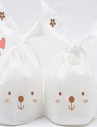 Long Rabbit Ears Plastic Favor Bags For Wedding Set of 100