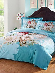 3D(random pattern) Cotton 4 Piece Duvet Cover Sets