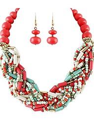 2014 nouveaux arrivants lourde style exotique perles chunky ensemble de bijoux de mode