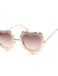 Anti-Reflective Women's Round Alloy Retro Sunglasses