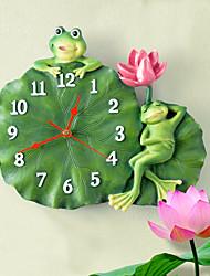 "13 ""h style moderne mur de lotus horloge"