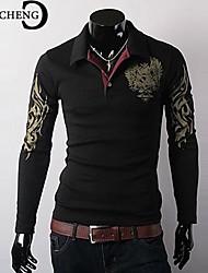 CHICHENG® Men's Lapel Floral Print Shirt