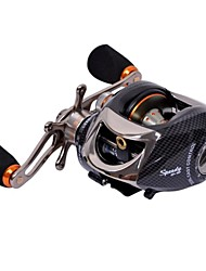 Tsurinoya 14 Bearings Baitcasting Fishing Reel  Two Brake Systems Right Hand Black Color