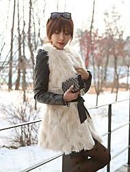 Стоимость мех искусственный мех мода рукавов жилет