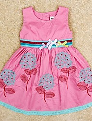 Girl's Cotton Dress , Winter/Spring/Fall Sleeveless