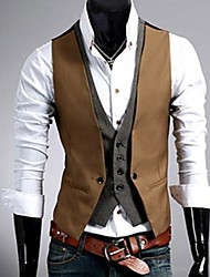 COOLMAN Men Leave Two British Style Vest Suit Vest