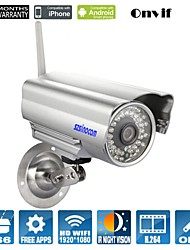 Sinocam® Bullet IP Camera 2.0MP Motion Detection IR-cut Day Night Wireless