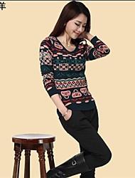 yingyiyang® Корейский целевой пуловеры геометрический узор круглым воротом kintted свитер женский