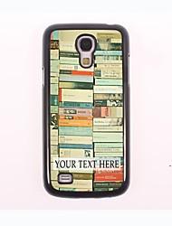 caja del teléfono personalizado - caso del metal del diseño de la pila para Samsung Galaxy S4