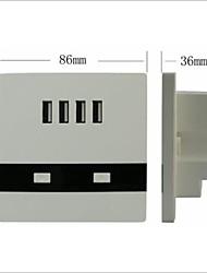 4 port de recharge USB d'interface 3000 ma courant de charge plus de demande de charge de la compétition