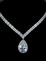 Европейский стиль мода элегантной роскоши капель ранга AAA циркон свадебный ожерелье