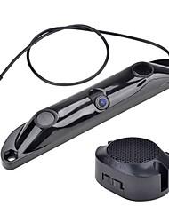 3-en-1 caméra + boîte de contrôle + 2parking capteurs plaque d'immatriculation de voiture inverse vidéo système radar sauvegarde
