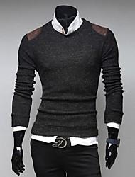 мужская твердой кожи борьба Мода Тонкий свитер