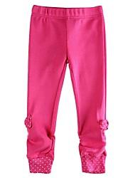леггинсы Девочка брюки девушки на лето детей брюк с луком новые 2014 Дети девочек брюки малыша гетры