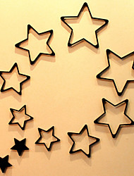 Fashion Wooden Pentagram 3D Wall Stickers(Assorted Colors)(5 Pcs)