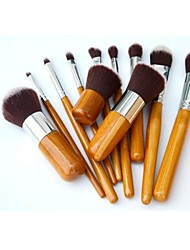 Professional Brush Set with 11Pcs Wood Brushes