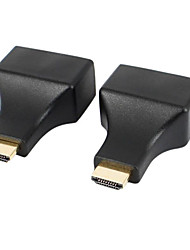 HDMI to RJ45 CAT-5e / 6 HD 3D Signal Extension Adapters - Black (2 PCS)
