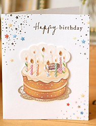 Stereo Mini Cake Birthday Greeting Card (7.5*9cm)