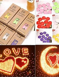10Pcs/set New Arrival Multi- color Environmental Protection Romantic Smokeless Scented Aromatherapy Candles Random Color