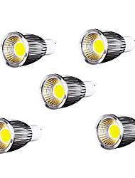9W GU10 Spot LED / Projecteurs PAR MR16 9 COB 700-750 lm Blanc Froid AC 85-265 V 5 pièces