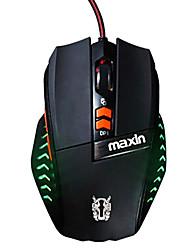 Maxin ms1 juegos usb ratón 2000dpi luminosa